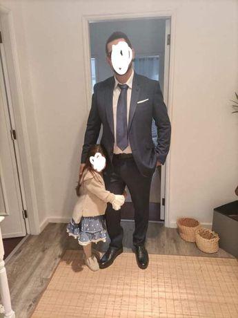 Fato de cerimonia ou trabalho suits inc tamanho xl  gravata sacoor
