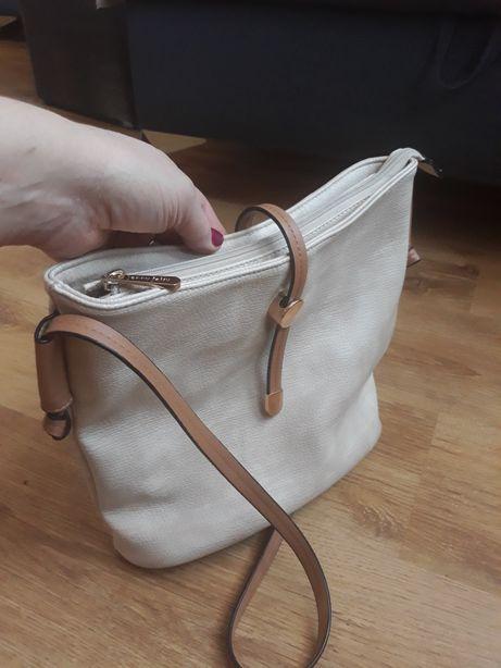 CCC torebka beż brąz nie mieści A4 listonoszka damska