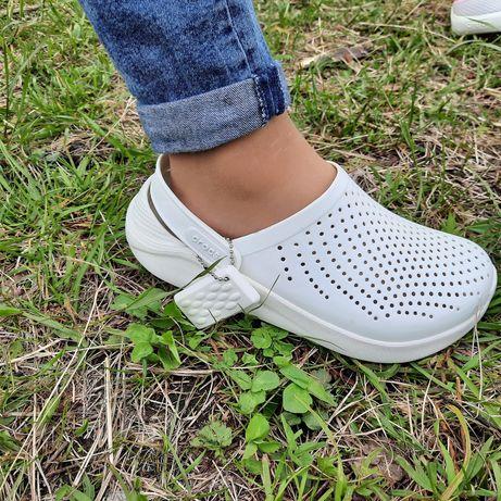 Almost White Crocs LiteRide Кроксы акция