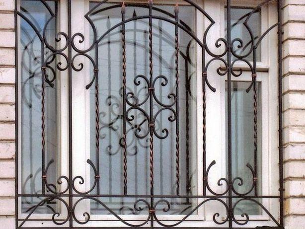 Кованные решётки на окна от 800грн Решетки металлические Решітки