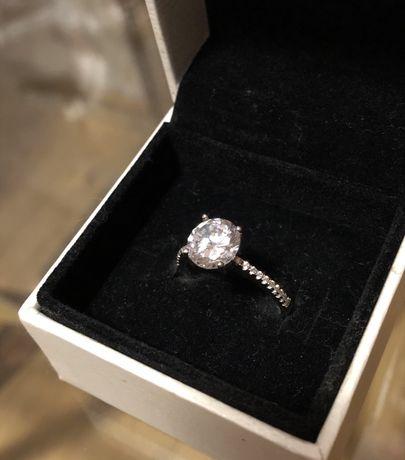 W. KRUK pierścionek srebrny z cyrkonią rozm. 54 (14)