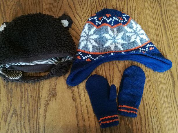 Zestaw 2 czapek i rękawiczek r. 92