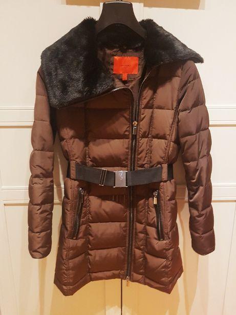 Płaszcz zimowy Mango płaszcz puchowy ocieplany płaszcz , kaczy puch