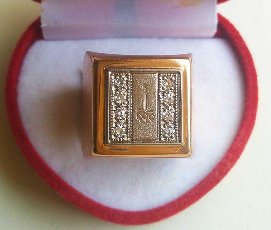Кольцо СССР золото 583 проба звезда Мужской перстень