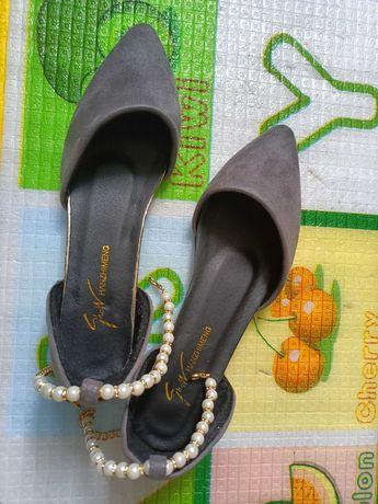 Eleganckie sandały/ baleriny, rozmiar 38