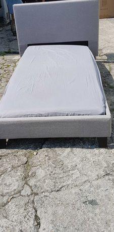 łóżka tapicerowane 1osobowe + materace