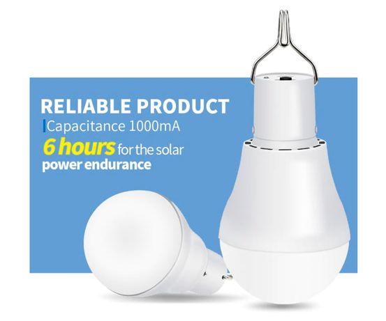 Lampada Led Solar Portátil 15 W 130LM de Acampamento ao Ar Livre
