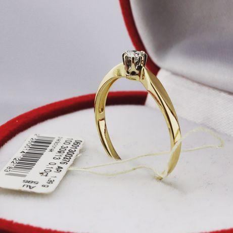 APART Pierścionek z Brylantem 0.1CT Złoty 585 Zaręczynowy z Diamentem