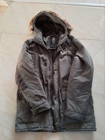 Zimowa kurtka męska, parka, XXL, naturalne futro, kożuszek