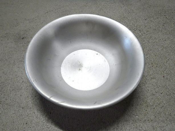 Miska Miednica 99,5% al. aluminiowa Olkusz Wojskowa PRL 24cm zabytkowa