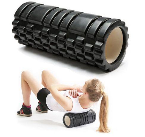 Duży wałek do masażu pleców nóg roller 45cm wypustki