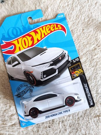 Hot Wheels Honda Civic Type R 2018 długa karta