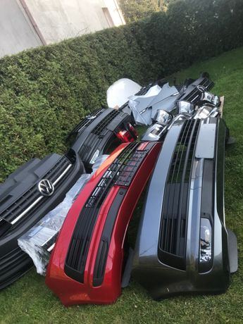 VW T6 zderzak. maski blotniki pasy lampy