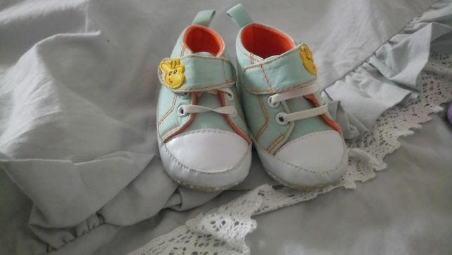 Buciki niemowlece zyrafki