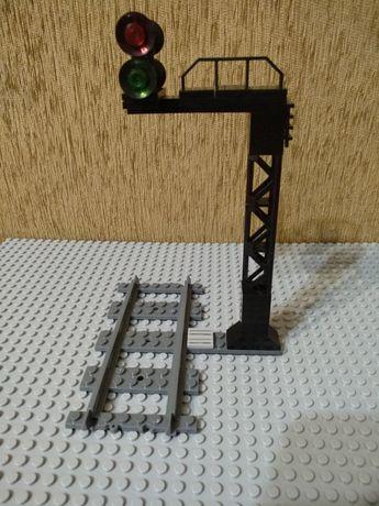 Семафор лего железная дорога рельсы lego classic train