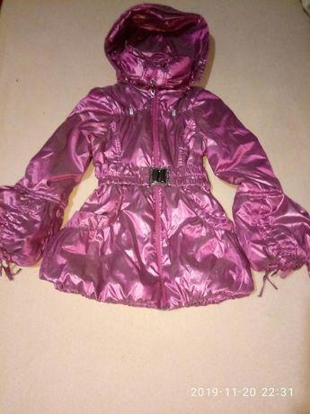 деми курточка хамелеон девочке 8-10лет