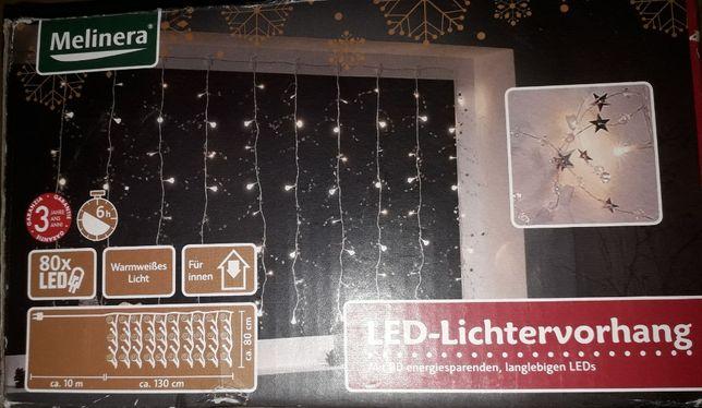 Lampki LED siatka
