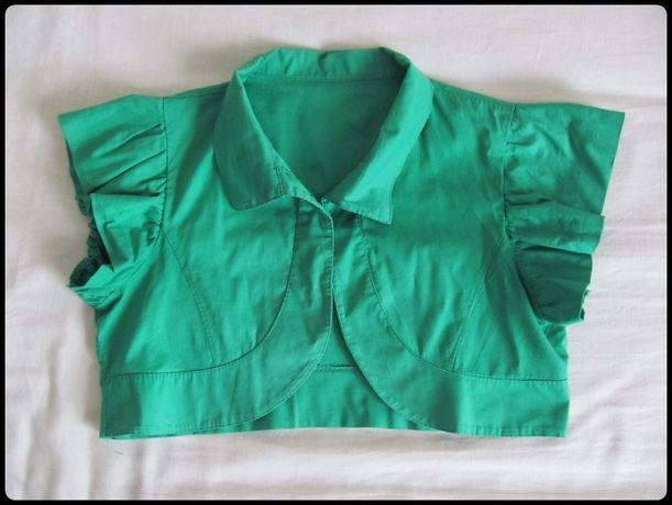 Bolerko w kolorze soczystej zieleni rozmiar 36 S