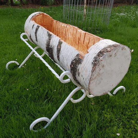 Donica drewniana+stojak