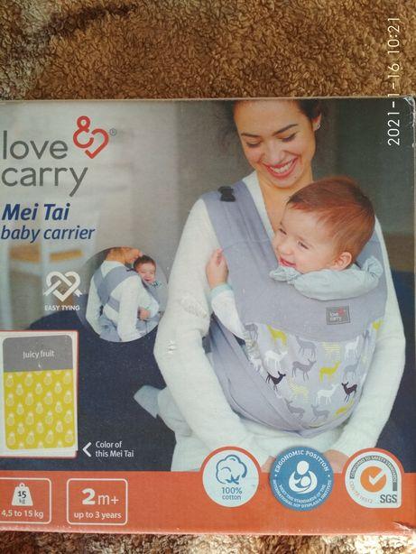 Май-слинг love&carry, с 2 месяцев