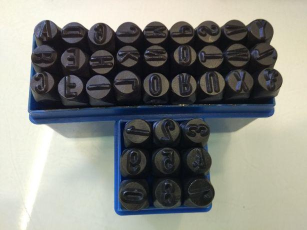 Numeratory, znaczniki 8mm do metalu cyfry i litery zestaw wybijaki