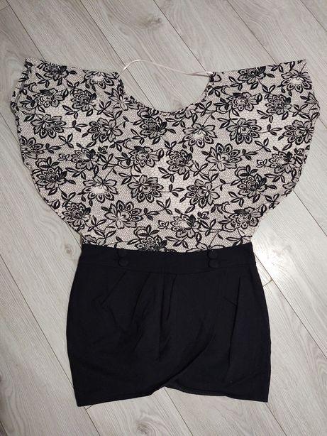 Sukienka mini - nietoperz