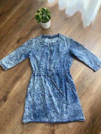 Sukienka tunika dzinsowa S