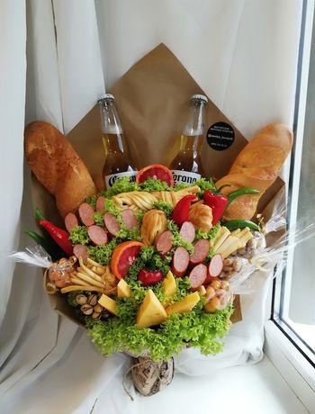 Мясной букет, закусочный букет, подарок, мужу, парню, съедобные букеты