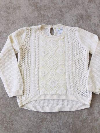 Sweterek ecrue koronka 110 cm tkmaxx