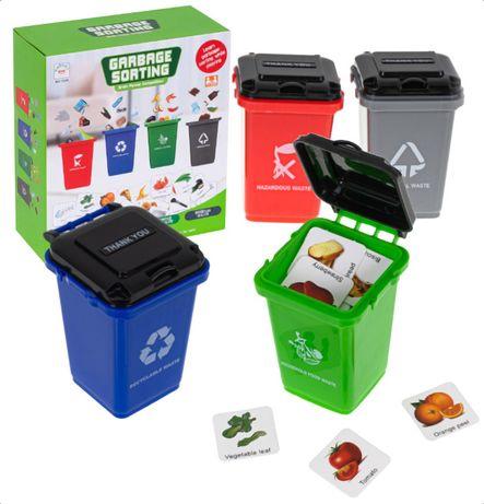 Gra Ridzinna Logiczna Segregowanie Śmieci kosz karty EKO