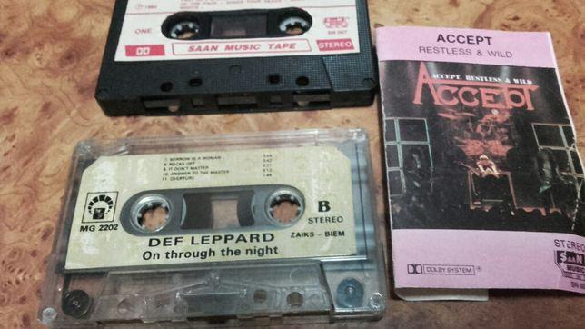 Sprzedam 2 kasety magnetofonowa zespół ACCEPT. DEF LEPPARD