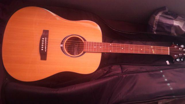 Gitara, pokrowiec, kostki, tuner, podręcznik - cena za całość