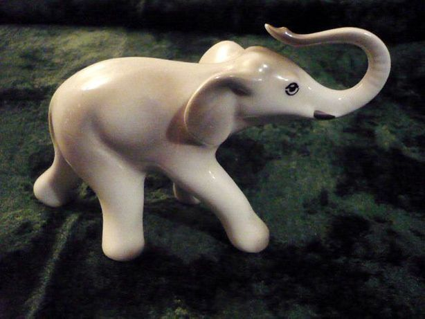 słoń słonik porcelana figurka stara rzadka PRL Katowice JAN JEZEL
