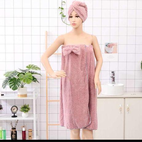 Набор для сауны полотенце и чалма халат полотенце микрофибра