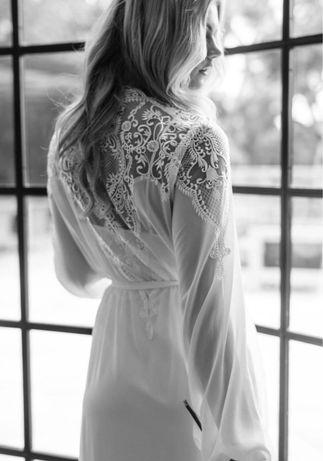 Renda para realização de robe de noiva casamento
