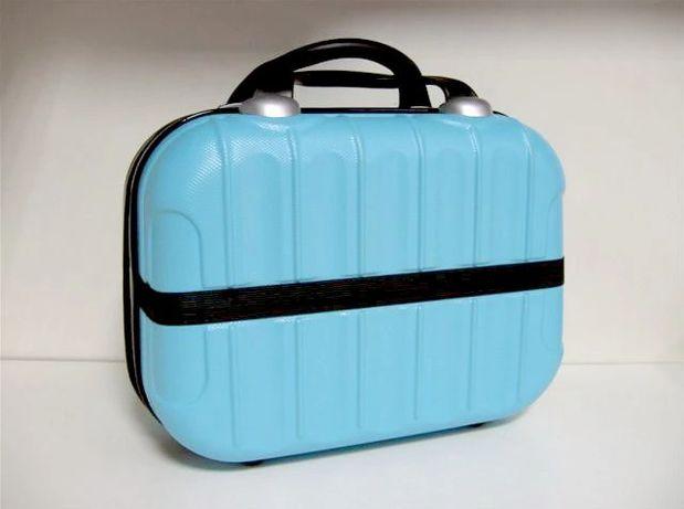 Kosmetyczka Podróżna Torba Organizer Kuferek Blue
