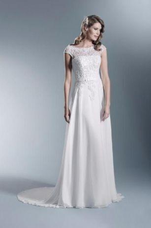 Piękna Suknia Ślubna Agnes r. 40 Stan IDEALNY - Ełk