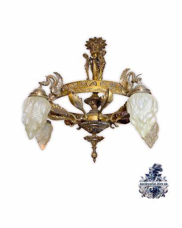 Антикварная бронзовая люстра светильник антиквариат Киев Украина