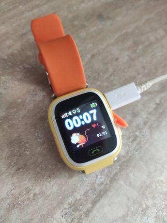 Детские Умные Часы Baby Watch Q90 с GPS трекером Оранжевый