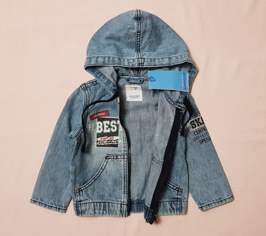Джинсовая куртка Gloria Jeans на мальчика.Размер 86, на 1 - 1,5 года.