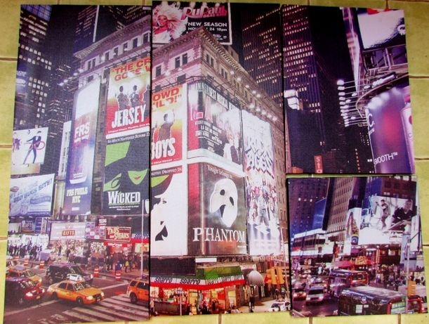 New York, Nowy Jork, 4 fotoobrazy - płótna