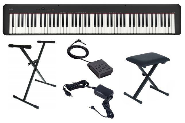 Pianino Casio CDP S100 BK Zestaw Komplet Ława