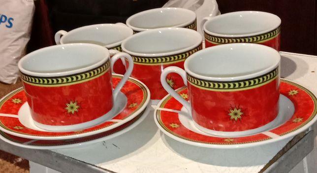 Сервіз чайний 6 чашок+3 блюдця.
