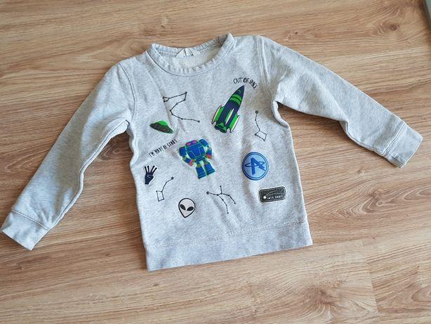 H&M bluzka chłopięca bluza szara kosmos 122/128