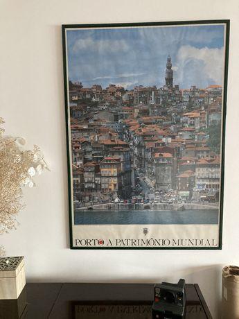 Poster do Porto Patrimonio Mundial - Emoldurado