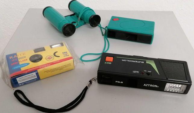 Maquinas analógicas fotografia + binoculos