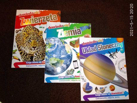 Dowiedz się! Zwierzęta, Ziemia, Układ Słoneczny. Książki edukacyjne