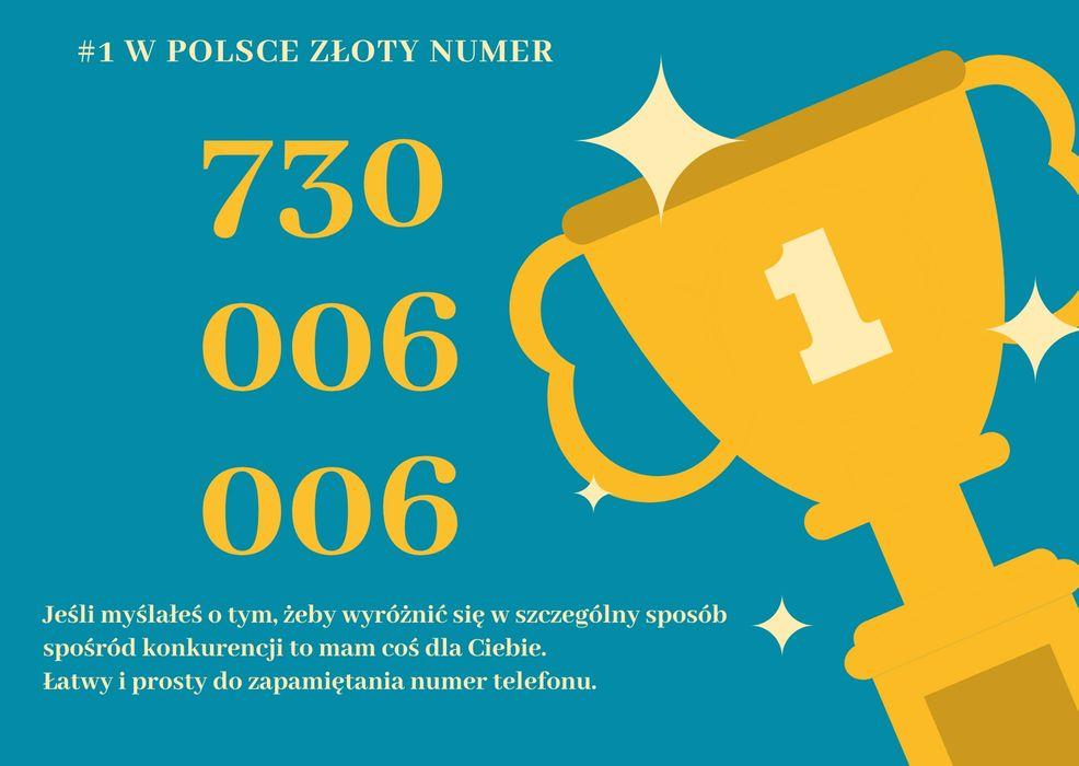 Złoty platynowy numer telefonu 730.006.006 vip Białystok - image 1
