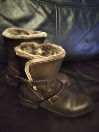 Buty kozaki M&S zimowe dla dziewczynki rozm 34