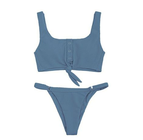 Трендовый купальник синего цвета